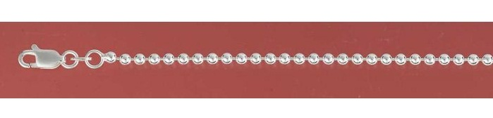 Chain 2.5mm Sterling Silver Balls