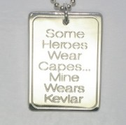 Sterling Silver Some heroes wear capes Tag1