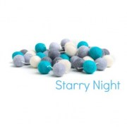 Felt Ball Garland - Starry Night