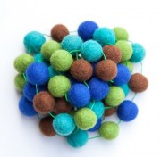Felt Forest Ball Garland 2m