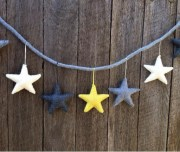 Felt Star Garland - moon shine1