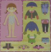 Wooden Puzzle - Dress up Girl