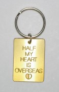 Half My Heart Is Overseas Keyring