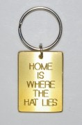 Home is Where The Hat Lies Keyring