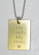 My Dad's My Hero Pendant