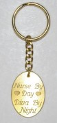 Nurse by Day Diva by Night Key Chain