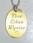 Brass Oval Multiple Names Pendant