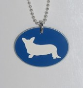 Corgi Tag Pendant in Blue
