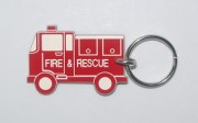 Plastic Fire Engine Bag Tag
