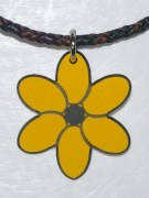 Plastic Flower Pendant in Yellow