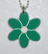 Plastic Flower Pendant in Green