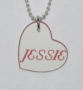 Heart Shaped Name Pendant