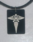 Medical Conditions Pendant in Black