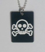 Skull & Cross Bones Pendant in Black