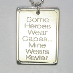 Sterling Silver Some heroes wear capes Tag