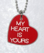 My Heart Is Yours Heart Shaped Pendant